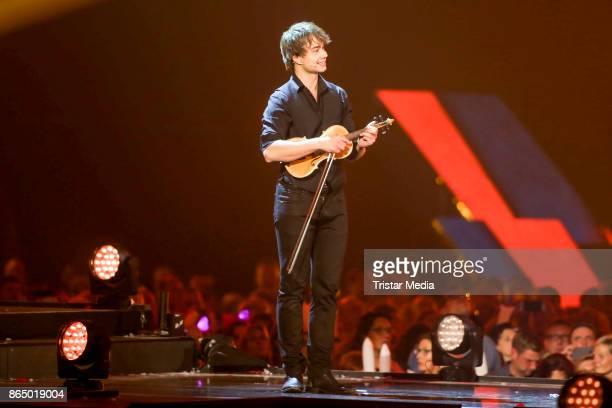 Singer Alexander Rybak performs at 'Schlagerboom Das Internationale Schlagerfest' at Westfalenhalle on October 21 2017 in Dortmund Germany