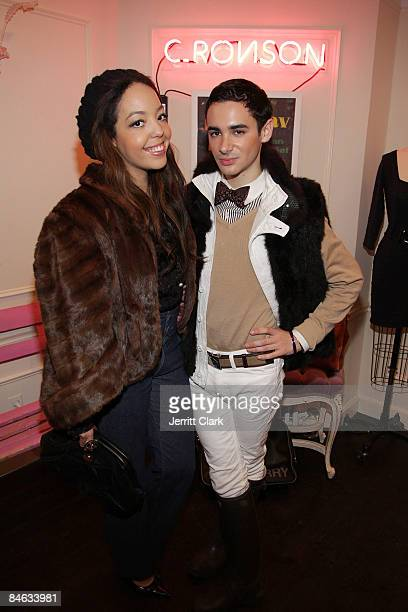 Singer Alexandra Alexis and Adrien Field attend the Charlotte Ronson Spring 2009 Collection release party at Charlotte Ronson on February 3 2009 in...