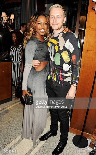Singer Alexandra Burke and Mr Hudson attend as Naomi Campbell hosts an Olympic Celebration Dinner in partnership with Fashion For Relief Interview...