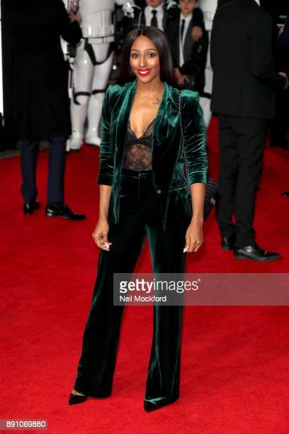 Singer Alexandra Burke attends the European Premiere of 'Star Wars The Last Jedi' at Royal Albert Hall on December 12 2017 in London England