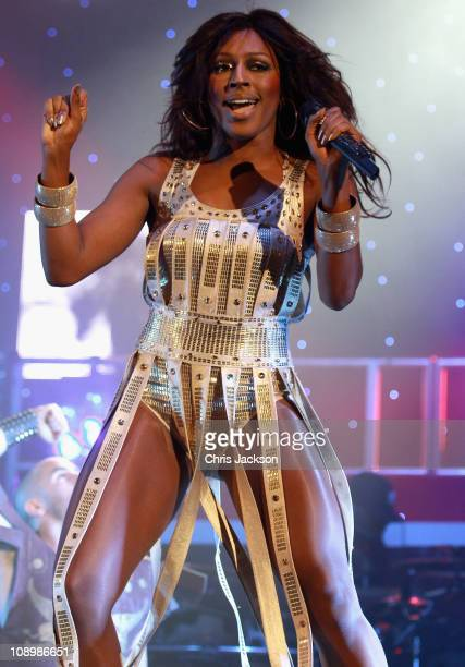 Singer Alexandra Burke performs at Hammersmith Apollo on February 10 2011 in London England