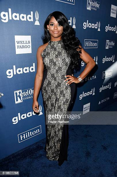 Singer Alexandra Grey attends the 27th Annual GLAAD Media Awards at the Beverly Hilton Hotel on April 2 2016 in Beverly Hills California