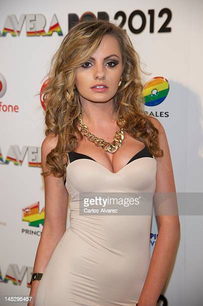 Singer Alexandra Stan attends Primavera Pop 2012 festival at Palacio de Vistalegre stadium on May 25 2012 in Madrid Spain