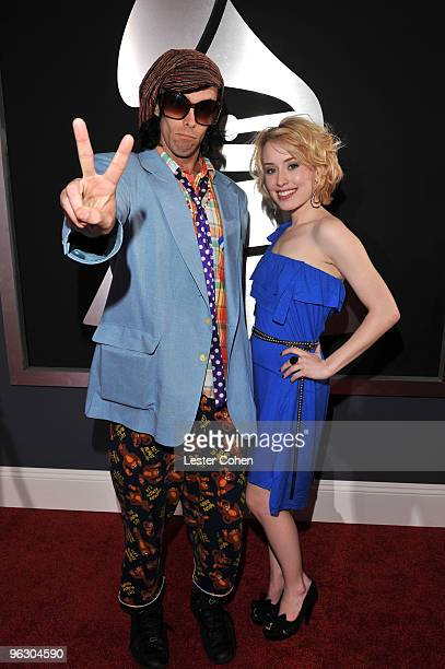 Singer Alexis Grace and guest arrive at the 52nd Annual GRAMMY Awards held at Staples Center on January 31 2010 in Los Angeles California