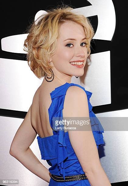 Singer Alexis Grace arrives at the 52nd Annual GRAMMY Awards held at Staples Center on January 31 2010 in Los Angeles California