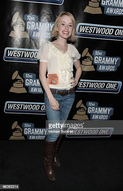 Singer Alexis Grace attends the 52nd Annual GRAMMY awards backstage at the GRAMMYs Day 1 held at at Staples Center on January 28 2010 in Los Angeles...