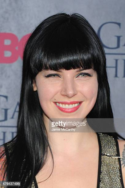 Singer Alexis Krauss attends the 'Game Of Thrones' Season 4 New York premiere at Avery Fisher Hall Lincoln Center on March 18 2014 in New York City