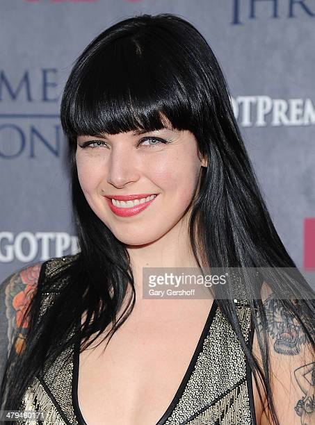 Singer Alexis Krauss attends the 'Game Of Thrones' Season 4 premiere at Avery Fisher Hall Lincoln Center on March 18 2014 in New York City