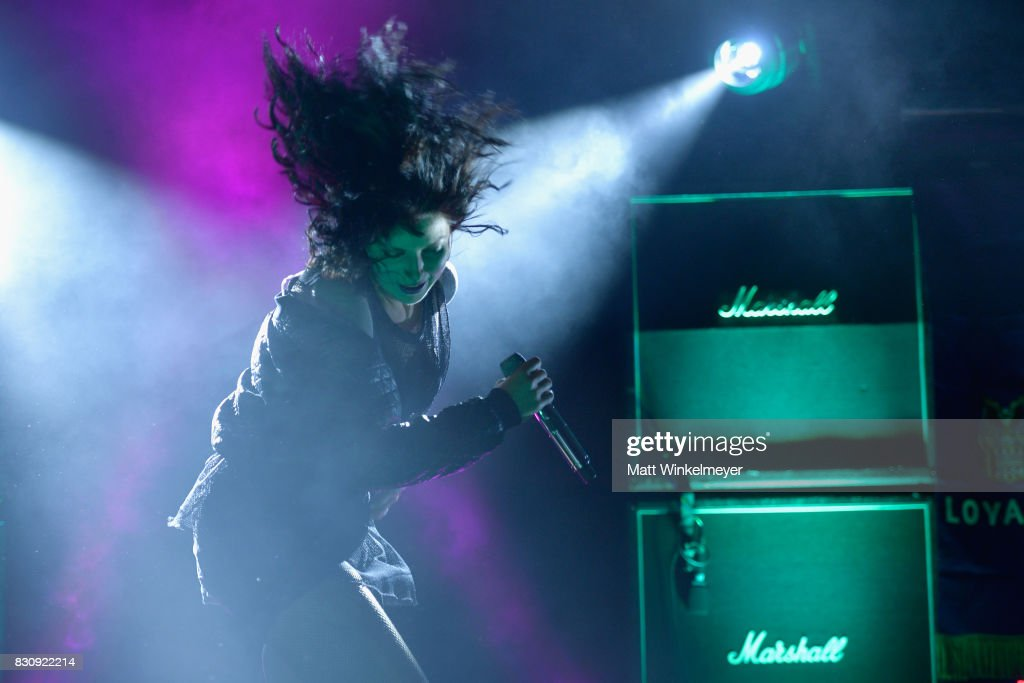 Singer Alexis Krauss of the group Sleigh Bells performs at 2017 Sundance NEXT FEST at The Theater at The Ace Hotel on August 12, 2017 in Los Angeles, California.