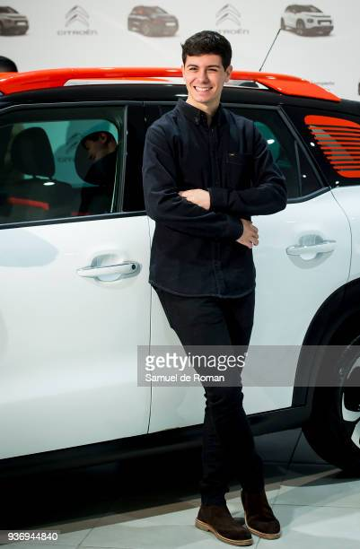 Singer Alfred Garcia presents new SUV compacto Citroen C3 Aircross on March 23 2018 in Madrid Spain