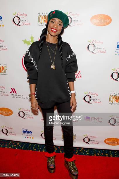 Singer Algebra Blessett attends the '5th Annual Caroling with Q Parker and Friends' at Atlanta Marriott Buckhead on December 11 2017 in Atlanta...