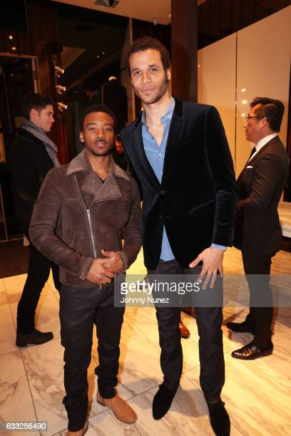 Singer Algee Smith and actor Jordan Donica attend the Jeffrey Rudes NYFW Men's presentation on January 31 2017 in New York City