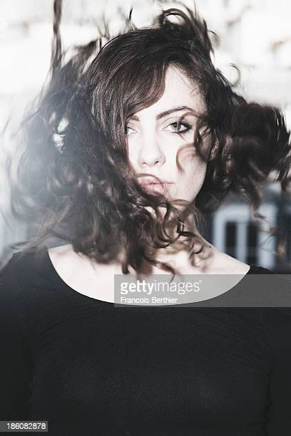Singer Alhy is photographed for Self Assignment on October 23, 2013 in Paris, France.