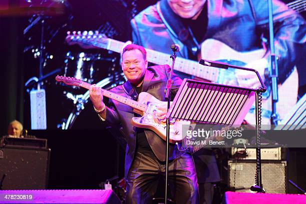 Singer Ali Campbell of UB40 performs at 'A Night of Reggae' hosted by Helena Bonham Carter for Save The Children UK at The Roundhouse on March 12...