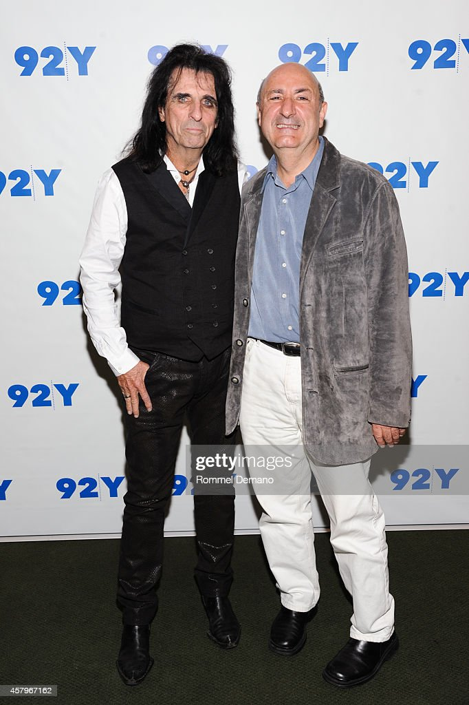Singer Alice Cooper and Anthony DeCurtis attend the 92Y Presents: 'Super Duper Alice Cooper' Screening and Conversation Alice Cooper and Anthony DeCurtis at 92nd Street Y on October 27, 2014 in New York City.