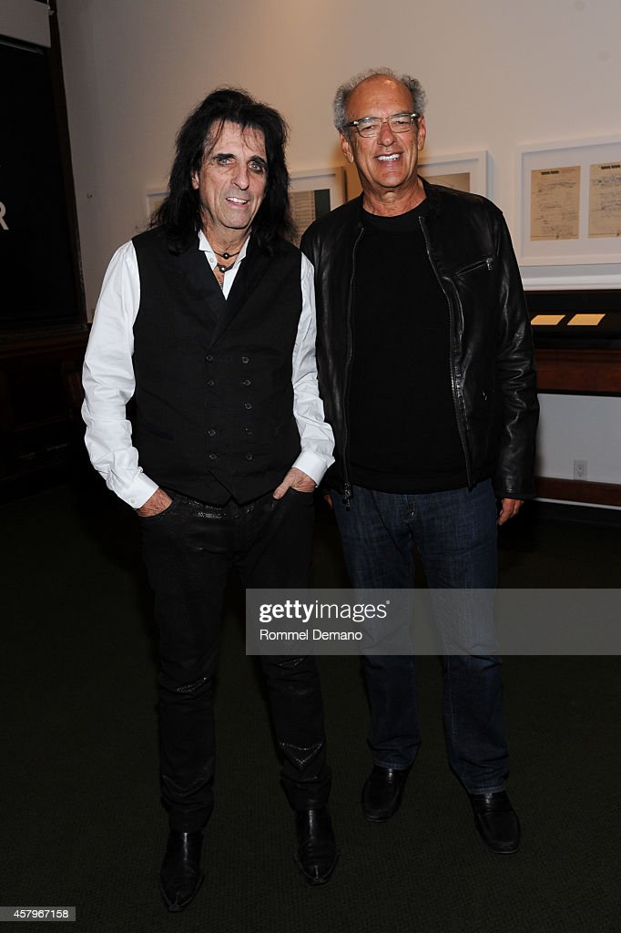 Singer Alice Cooper and Shep Gordon attend the 92Y Presents: 'Super Duper Alice Cooper' Screening and Conversation Alice Cooper and Anthony DeCurtis at 92nd Street Y on October 27, 2014 in New York City.