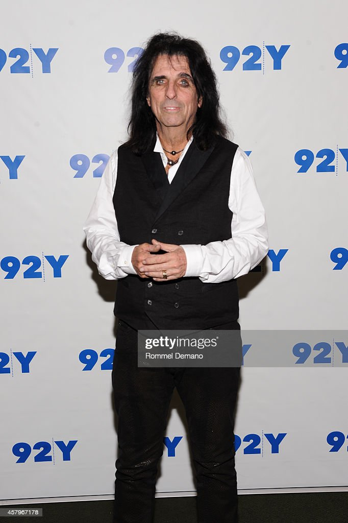 Singer Alice Cooper attends the 92Y Presents: 'Super Duper Alice Cooper' Screening and Conversation Alice Cooper and Anthony DeCurtis at 92nd Street Y on October 27, 2014 in New York City.
