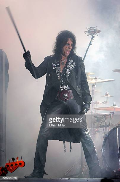 Singer Alice Cooper performs during his sold out show at the Joint inside the Hard Rock Hotel Casino October 17 2005 in Las Vegas Nevada The...