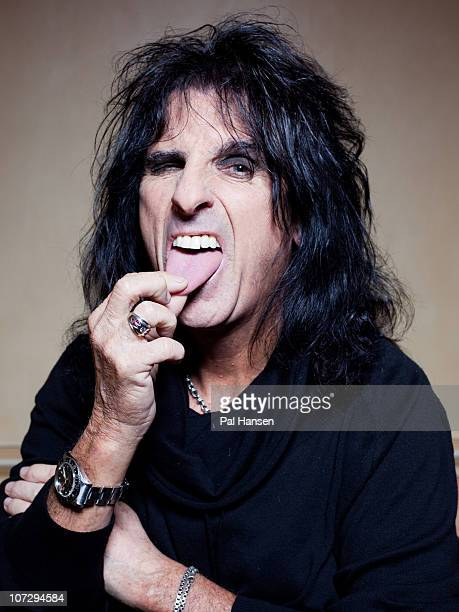 Singer Alice Cooper poses for a portrait shoot in London on October 26 2010