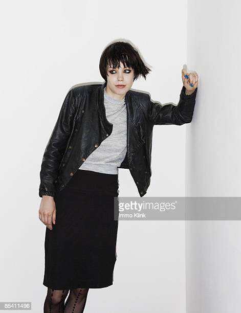 Singer Alice Glass poses for a portrait shoot for the Independent magazine in London on July 9 2007