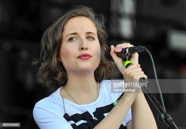 Singer Alice Merton peforms on Day 3 of BottleRock Napa Valley Music Festival at Napa Valley Expo on May 27 2018 in Napa California