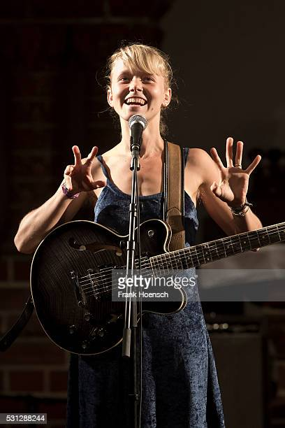 Singer Alice Phoebe Lou performs live during a concert at the Passionskirche on May 13 2016 in Berlin Germany