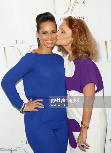Singer Alicia Keys and designer Diane von Furstenberg attend the 2014 DVF Awards on April 4 2014 in New York City