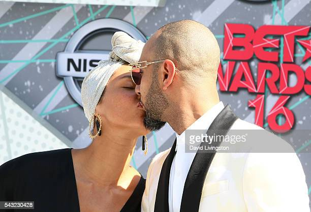 Singer Alicia Keys and Swizz Beatz attend the 2016 BET Awards at Microsoft Theater on June 26 2016 in Los Angeles California