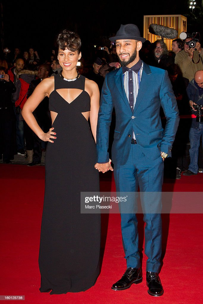 Singer Alicia Keys and Swizz Beatz attend the NRJ Music Awards 2013 at Palais des Festivals on January 26, 2013 in Cannes, France.