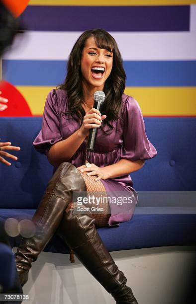 Singer Alicia Keys appears onstage during BET's 106 Park January 22 2007 in New York City