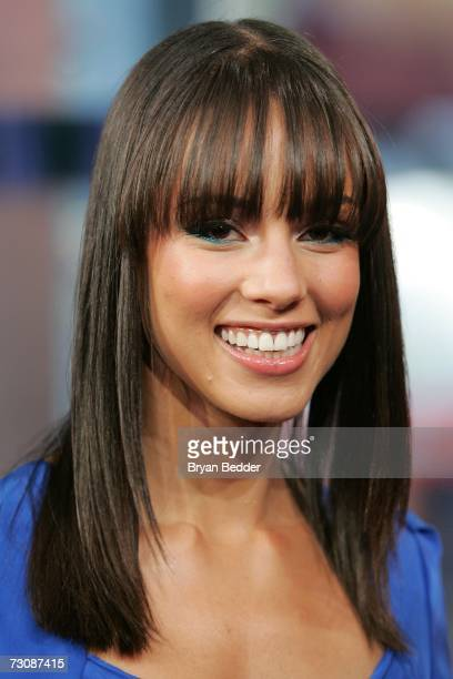 Singer Alicia Keys appears onstage during MTV's Total Request Live at the MTV Times Square Studios January 23 2006 in New York City