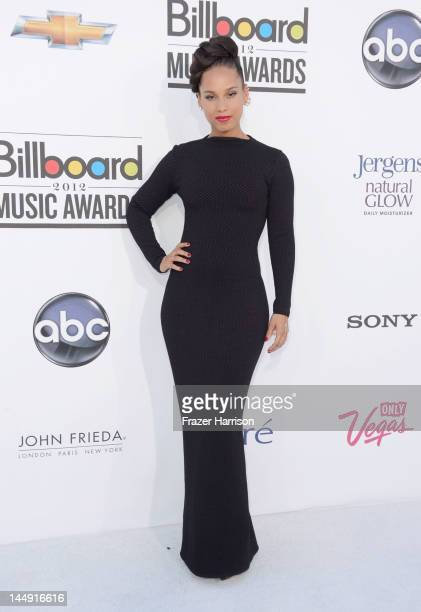 Singer Alicia Keys arrives at the 2012 Billboard Music Awards held at the MGM Grand Garden Arena on May 20 2012 in Las Vegas Nevada