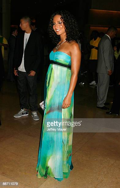 Singer Alicia Keys arrives at the 22nd annual ASCAP Rhythm and Soul Awards held at The Beverly Hilton Hotel on June 26 2009 in Beverly Hills...