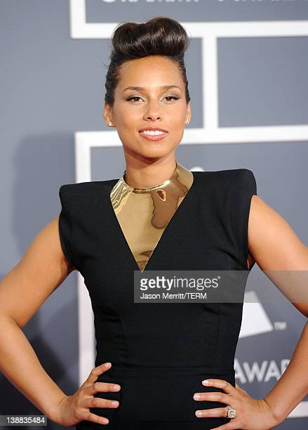 Singer Alicia Keys arrives at the 54th Annual GRAMMY Awards held at Staples Center on February 12 2012 in Los Angeles California