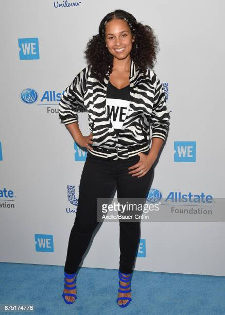 Singer Alicia Keys arrives at We Day California 2017 at The Forum on April 27 2017 in Inglewood California