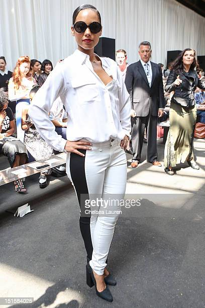 Singer Alicia Keys attends Edun Spring 2013 at Skylight Studios at Moynihan Station on September 8 2012 in New York City