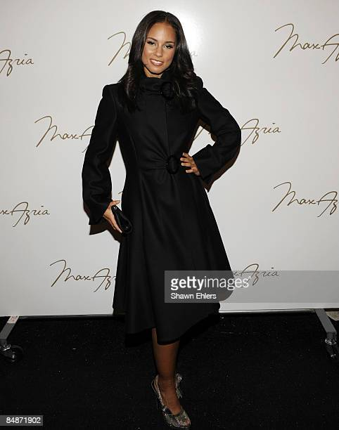 84d622dec Singer Alicia Keys attends Max Azria Fall 2009 during MercedesBenz Fashion  Week at The Tent in