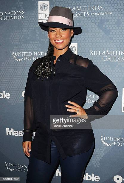 Singer Alicia Keys attends the 2014 Social Good Summit at 92Y on September 21 2014 in New York City