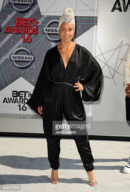 Singer Alicia Keys attends the 2016 BET Awards at Microsoft Theater on June 26 2016 in Los Angeles California
