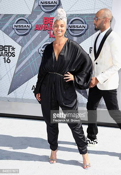 Singer Alicia Keys attends the 2016 BET Awards at the Microsoft Theater on June 26 2016 in Los Angeles California