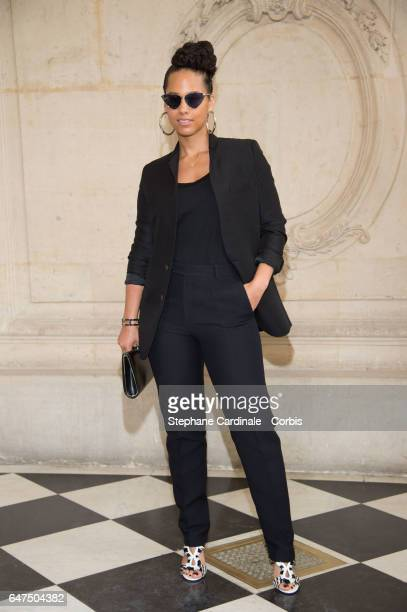 Singer Alicia Keys attends the Christian Dior show as part of the Paris Fashion Week Womenswear Fall/Winter 2017/2018 on March 3 2017 in Paris France