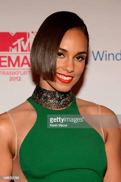Singer Alicia Keys attends the MTV EMA's 2012 at Festhalle Frankfurt on November 11 2012 in Frankfurt am Main Germany