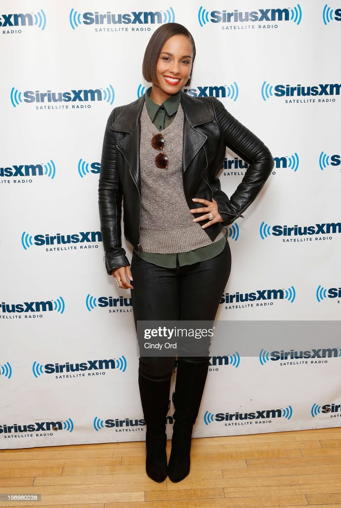 Singer Alicia Keys attends the SiriusXM Town Hall With Alicia Keys And Sway Calloway on 'Heart And Soul' at SiriusXM Studios on November 26, 2012 in New York City.