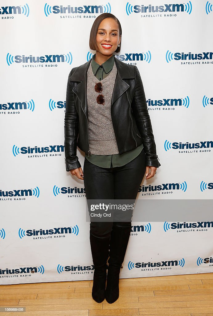 Singer Alicia Keys attends the SiriusXM Town Hall With Alicia Keys And Moderator Sway Calloway Live On 'Heart And Soul' at SiriusXM Studios on November 26, 2012 in New York City.