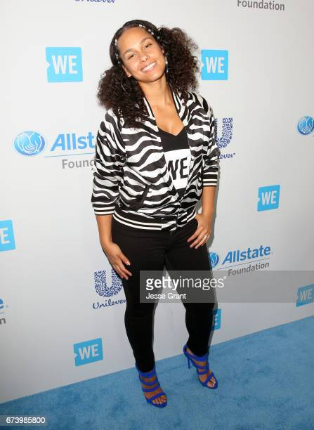 Singer Alicia Keys attends WE Day California to celebrate young people changing the world at The Forum on April 27 2017 in Inglewood California