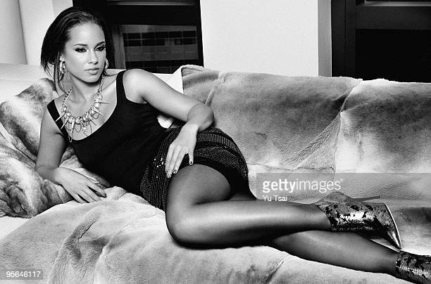 Singer Alicia Keys is photographed for Giant Magazine PUBLISHED IMAGE