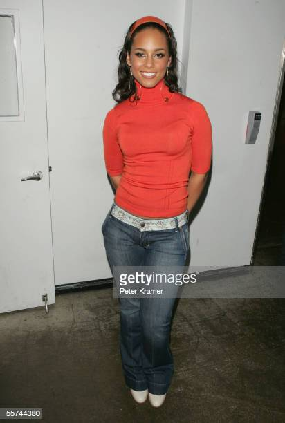 Singer Alicia Keys makes an appearance on MTV's Total Request Live on September 22 2005 at the MTV Times Square Studios in New York City