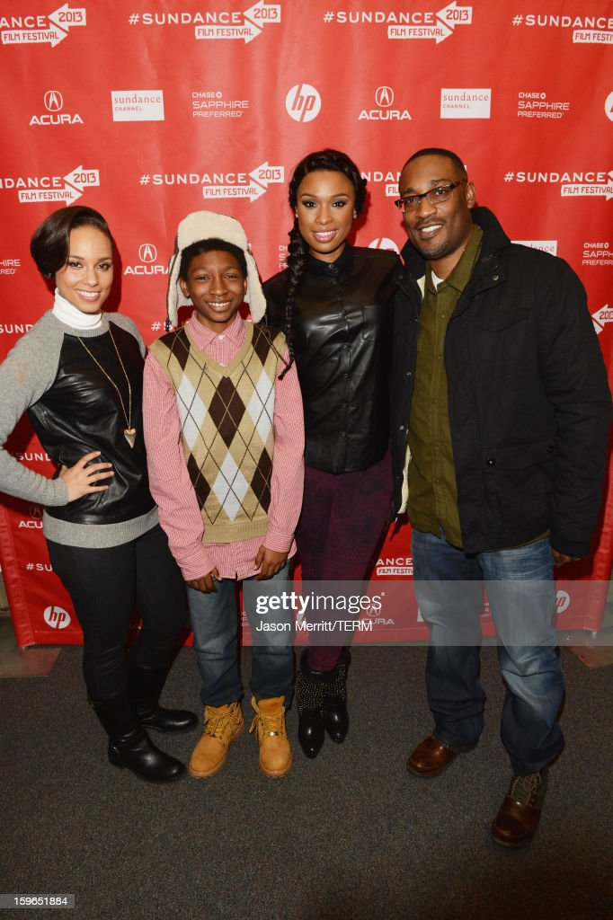Singer Alicia Keys making a surprise appearance, actors Skylan Brooks and Jennifer Hudson and director George Tillman Jr. attend the 'The Inevitable Defeat Of Mister And Pete' premiere during the 2013 Sundance Film Festival at Library Center Theater on January 17, 2013 in Park City, Utah.
