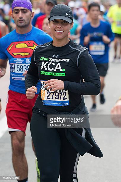 Singer Alicia Keys participates in the TCS New York City Marathon on November 1 2015 in New York City