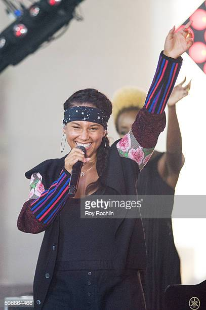 Singer Alicia Keys Performs on NBC's Today at Rockefeller Plaza on September 2 2016 in New York City